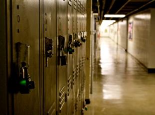Lockers In Hallway