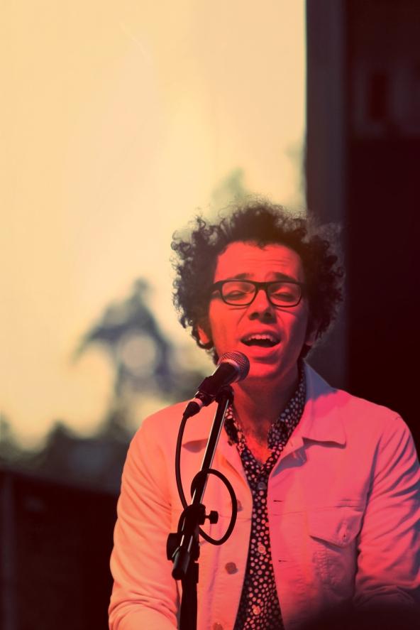Ian Axel of A Great Big World. Live at ECU, 2014.
